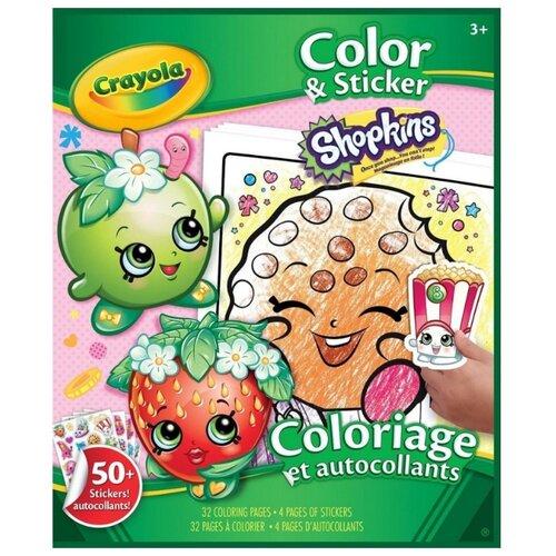 Купить Crayola Раскраска с наклейками. Shopkins Color & Sticker, Раскраски