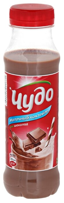 Молочный коктейль Чудо шоколад 2%, 270 г