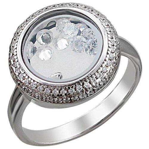 Эстет Кольцо с фианитами из серебра С33К152893, размер 17.5 ЭСТЕТ