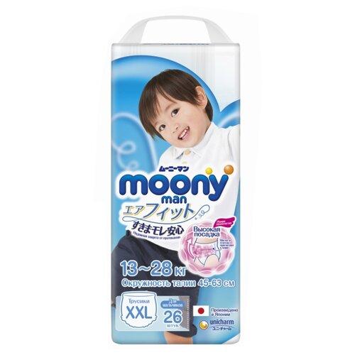 Купить Moony трусики Man для мальчиков New XXL (13-28 кг) 26 шт., Подгузники