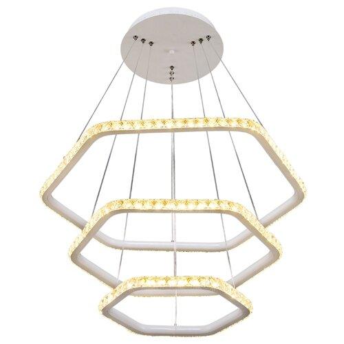 Люстра светодиодная Максисвет Геометрия 2-1637-3-WH Y LED, LED, 174 Вт люстра максисвет геометрия 1 1696 6 cr y led