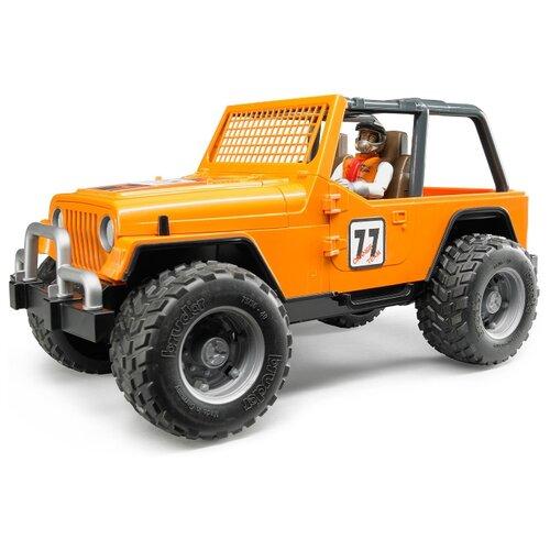 Фото - Внедорожник Bruder Cross Country Racer с гонщиком (02-542) 1:16 29.5 см оранжевый внедорожник bruder jeep cross counrty racer 02 541 29 см голубой