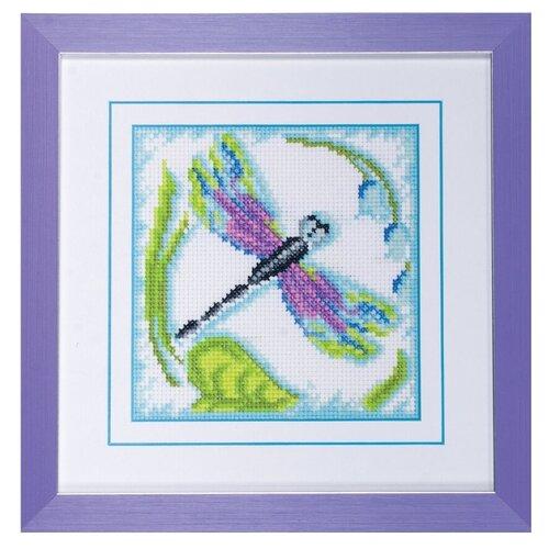 Фото - Ажур Набор для вышивания крестиком Стрекоза. Восход 12 х 12 см (0013) ажур набор для вышивания крестиком цветущий кактус 26 х 17 см 0010