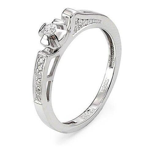Фото - KABAROVSKY Кольцо с 11 бриллиантами из белого золота 11-1696-1000, размер 17 kabarovsky кольцо с 11 бриллиантами из белого золота 11 1803 1010 размер 17