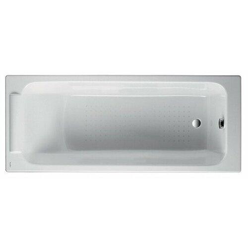 Ванна Jacob Delafon Parallel 170x70 без отверстий для ручек Е2947 чугун ванна из искусственного камня jacob delafon elite 170x75 с щелевидным переливом e6d031 00 без гидромассажа