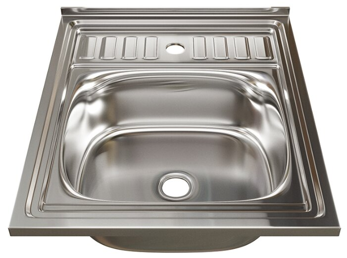 Накладная кухонная мойка Mixline 60х50 (0,4) 1 1/2 50х60см нержавеющая сталь