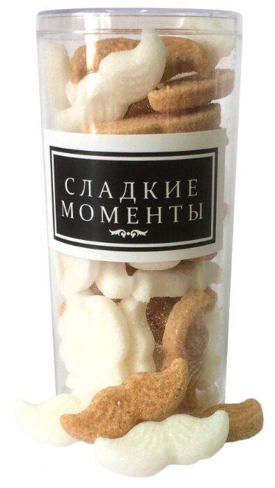 Сахар New SUGAR shop фигурный Сладкие моменты Усы сахарные тростниковые и белые 0.12 кг