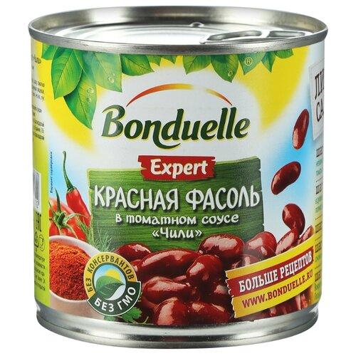 """Фасоль Bonduelle Expert красная в томатном соусе """"Чили"""", жестяная банка 400 г 425 мл"""