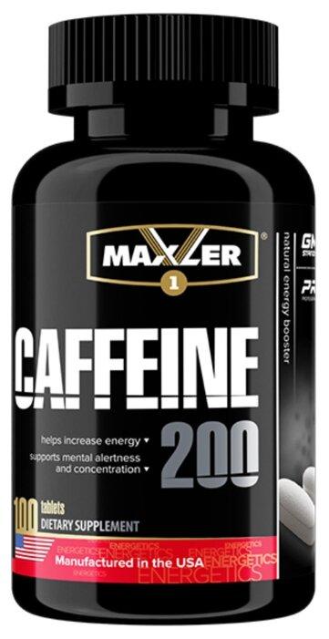 Предтренировочный комплекс Maxler Caffeine 200 (100 шт.)