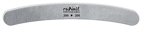 Runail Профессиональная пилка для искусственных ногтей, 200/200 грит