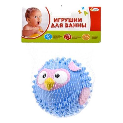 Купить Игрушка для ванной Играем вместе Мячик-сова (LX-SB01) голубой, Игрушки для ванной