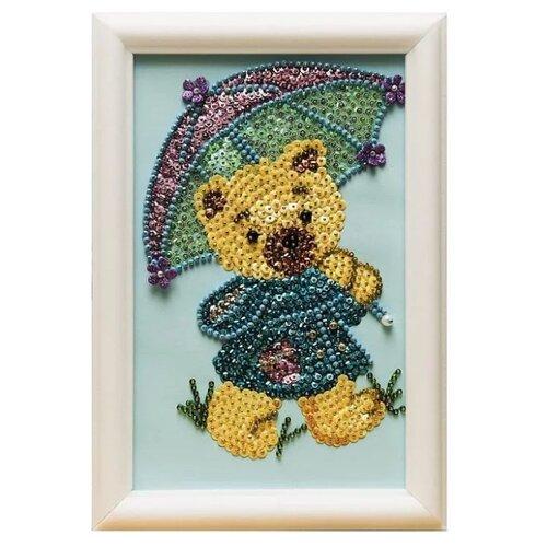 Купить Волшебная Мастерская Мозаика из пайеток Медвежонок М024, Картины из пайеток