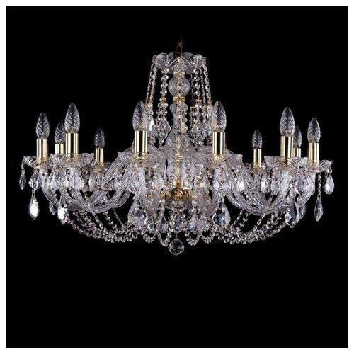 Люстра Bohemia Ivele Crystal 1406 1406/12/300/G/Leafs, E14, 480 Вт