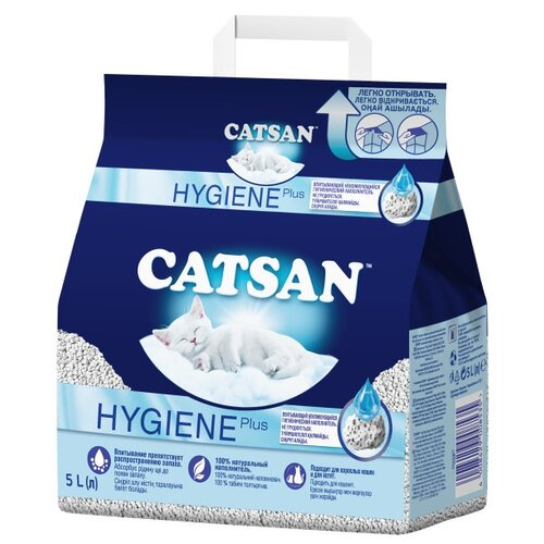 Впитывающий наполнитель Catsan Hygiene Plus 5 л.