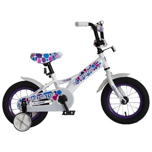Детский велосипед Navigator Bingo (ВН12158) белый с рисунком (требует финальной сборки) велосипед детский navigator вн20214 basic