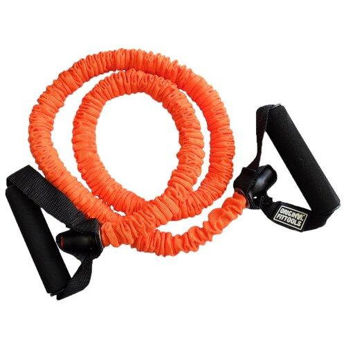 Эспандер универсальный Original FitTools в защитном кожухе Medium (FT-TUBE-71112) 120 х 12 см оранжевый/черный