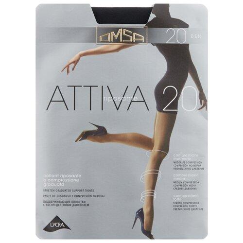Колготки Omsa Attiva 20 den, размер 5-MAXI, nero (черный) колготки omsa attiva 20 den размер 2 s nero черный