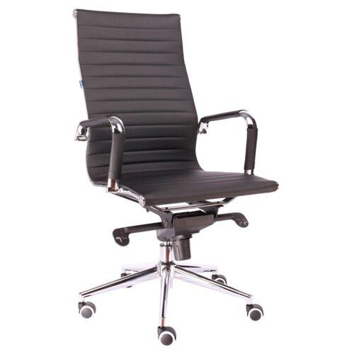 Фото - Компьютерное кресло Everprof Rio M для руководителя, обивка: искусственная кожа, цвет: черный компьютерное кресло everprof trend tm для руководителя обивка искусственная кожа цвет черный