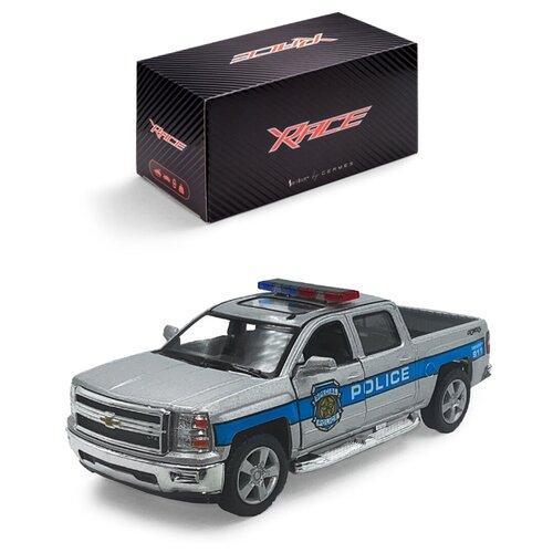 Купить Детская инерционная металлическая машинка Serinity Toys, с открывающимися дверями, модель Chevrolet Silverado полиция, серый, Машинки и техника