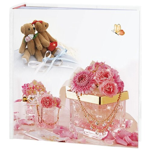 цена на Фотоальбом BRAUBERG Свадебный, бокс (3906890), 200 фото, для формата 10 х 15, бело-розовый