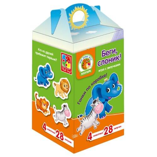 Настольная игра Vladi Toys Беги, слоник! VT1312-02 card games vladi toys vt5000 02 boy boys girl girls board game baby kids play