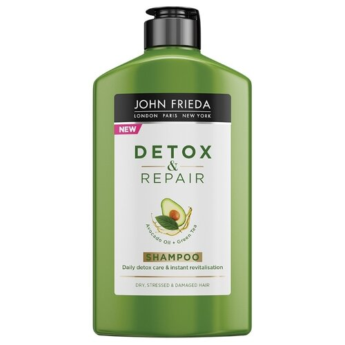 John Frieda шампунь Detox & Repair для очищения и восстановления волос 250 мл john frieda несмываемый спрей для укрепления волос с термозащитой detox