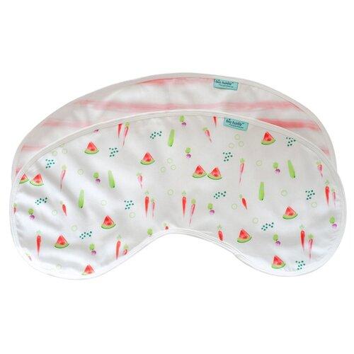 TinyTwinkle Комплект защитных пеленок на плечо, 2 шт , расцветка: арбузы/розовая полоскаНагрудники и слюнявчики<br>