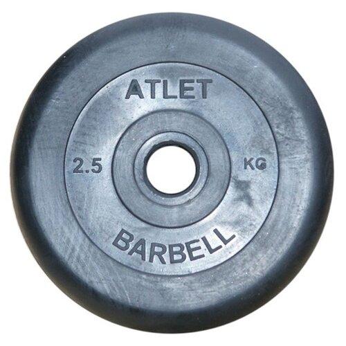 Фото - Диск MB Barbell MB-AtletB31 2.5 кг черный гиря уральская 30 0 кг mb barbell titan