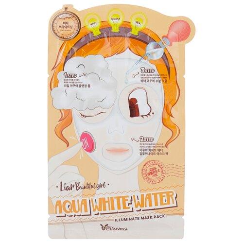 Elizavecca 3-шаговая тканевая увлажняющая маска Aqua White Water Illuminate Mask, 29 мл увлажняющая маска для сияния кожи elizavecca milky piggy water coating aqua brightening mask