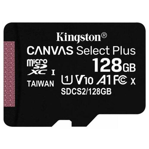 Фото - Карта памяти MicroSD 128GB Kingston Class 10 Canvas Select Plus A1 (100 Mb/s) без адаптера карта памяти kingston canvas select plus microsd 128gb class 10