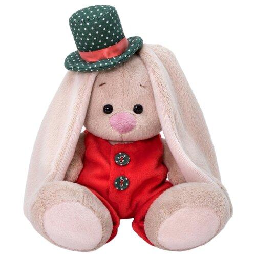 Мягкая игрушка Зайка Ми в красном меховом комбинезоне 15 см, Мягкие игрушки  - купить со скидкой