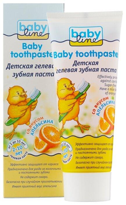 Зубная паста BabyLine со вкусом апельсина 2+