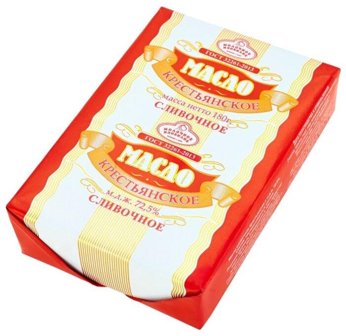 Молочное изобилие Масло сливочное Крестьянское 72.5%, 180 г