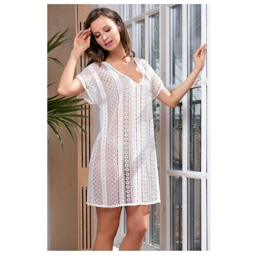 Пляжная туника MIA-AMORE Jamaica 6641 размер XS белый платье oodji ultra цвет красный белый 14001071 13 46148 4512s размер xs 42 170