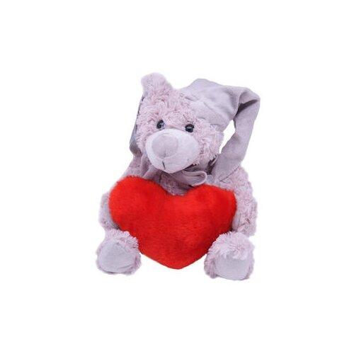Мягкая игрушка Magic Bear Toys Мишка Дилан в шапке и шарфе с сердцем 23 смМягкие игрушки<br>