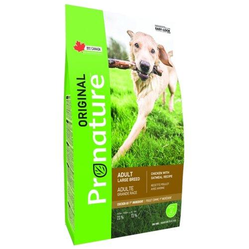 Сухой корм для собак ProNature Original для здоровья кожи и шерсти, курица с овсянкой 20 кг (для крупных пород)