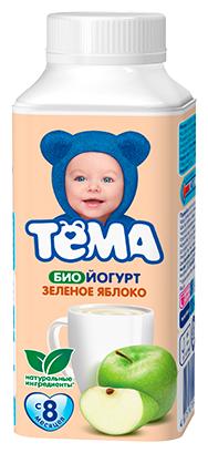Йогурт питьевой Тема Зеленое яблоко (с 8-ми месяцев) 2.8%, 210 г