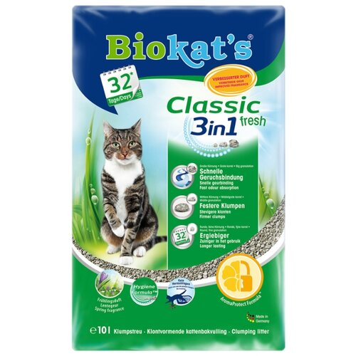 Комкующийся наполнитель Biokat's Classic Fresh 3in1 10 л