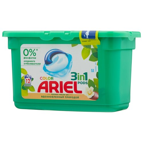 Ariel капсулы Color Аромат масла ши, контейнер, 12 шт