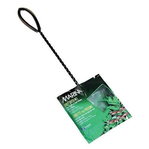 Сачок для аквариума Hagen Marina, 10x25 см черный фон для аквариума hagen двухсторонний растительный растительный 45см цена за 10см