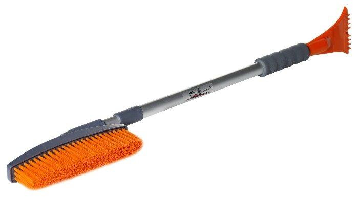 """Щетка-сметка """"DolleX"""", для мытья автомобиля, под шланг, с краником, телескопическая, 70-100 см"""