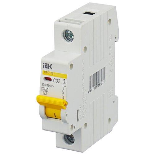 Автоматический выключатель IEK ВА 47-29 1P (C) 4,5kA 32 А автомат iek 3п c 40а ва 47 100