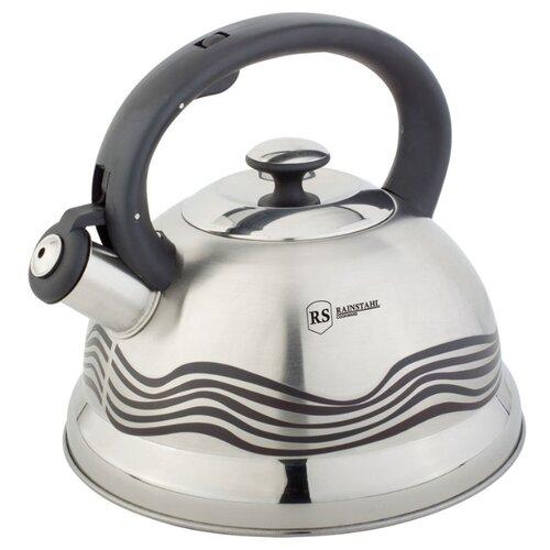 Rainstahl Чайник со свистком 7640-27RS\WK 2,7 л стальной/черный