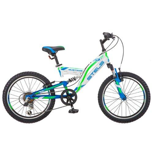 Подростковый горный (MTB) велосипед STELS Mustang V 20 V010 (2019) белый 13 (требует финальной сборки) горный mtb велосипед format 1214 29 2020 темно синий m требует финальной сборки
