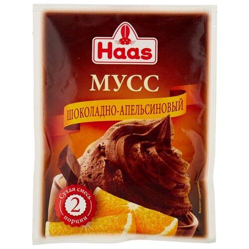 Фото - Смесь для десерта Haas Мусс шоколадно-апельсиновый 65 г смесь для десерта newa nutrition пудинг шоколадный вкус 150 г