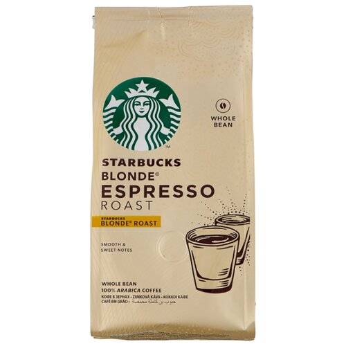 Кофе в зернах Starbucks Blonde Espresso Roast, арабика, 200 г keepcup кружка keepcup roast
