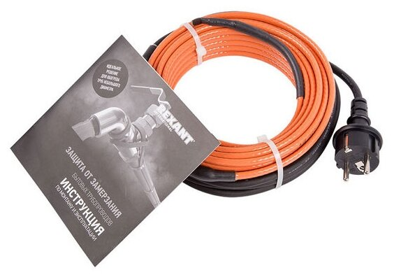 Греющий кабель саморегулирующийся REXANT 10HTM2-CT (8/80)