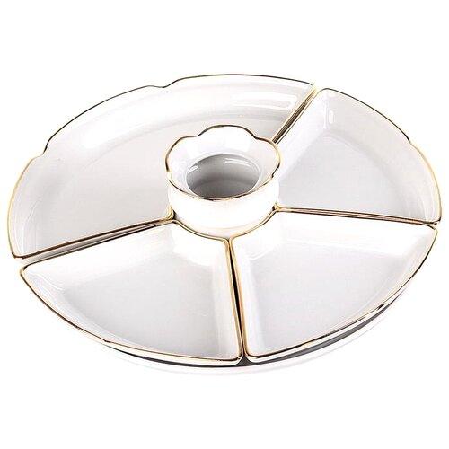 Добрушский фарфоровый завод Набор салатников Менажница с золотом белый добрушский фарфоровый завод тарелка мелкая надежда розовая нежность 200 мм