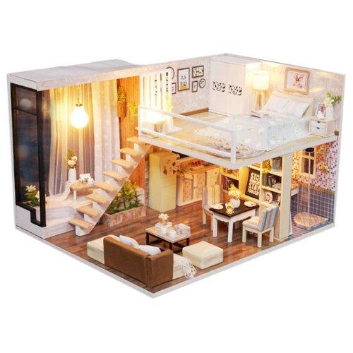 Купить Dolemikki кукольный домик ZQW13, белый/коричневый, Кукольные домики