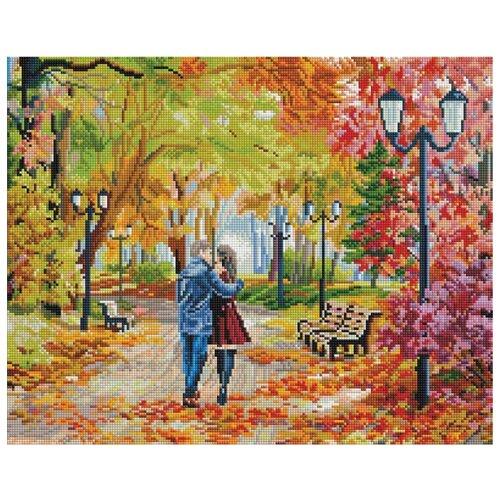 Белоснежка Набор алмазной вышивки Осенний парк, скамейка, двое (252-ST-S) 50x40 см